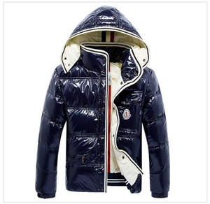 Wholesale HOT Brand Men Casual shiny Down Jacket Down Coats Mens Outdoor Fur Collar Warm Man Winter Thick warm Coat outwear jackets parkas