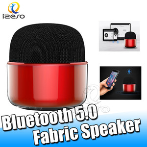 Wholesale F019 Mini Bluetooth Speaker Handsfree Music Player Sound Fabric Wireless Speakers Portable Home Travel Car Speaker with Microphone izeso
