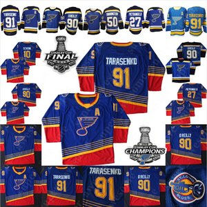 Wholesale NEW s Vintage St Louis Blues Vladimir Tarasenko Jersey Ryan O Reilly Alex Pietrangelo Binnington Brayden Schenn Hockey Jerseys Blue