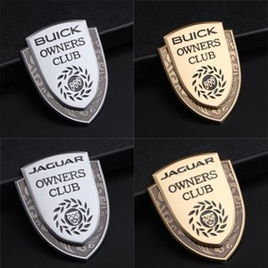 Wholesale Buick Jaguar XF XFL XFR XJ XJ6 XK S F TYPE Car Styling Logo Badge Metal Car Door Fender Rear Trunk Emblem Sticker Decal