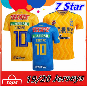 Wholesale 7 Stars Tiger Soccer Jersey Tigres UANL GIGNAC VARGAS GUERRON Shirts Mexico Club Football Uniform