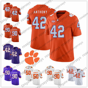 orange 83 jersey großhandel-2019 Clemson Tigers Stephone Anthony Grady Jarrett Dwayne Allen Shaq Lawson Lila Weiß Orange Retired Player Football Jersey