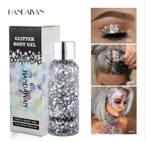 Wholesale HANDAYAN Eye Glitter Hair Body Face Glitter Gel Art Flash Heart Loose Sequins Cream for Festival Glitter Decoration Party Festival
