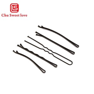 Wholesale Women Hair Waved U shaped Bobby Pin Barrette Salon Grip Clip Hairpins Black Dropshiping Hair Accessories for Women Girls