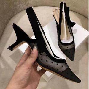 Wholesale European and American fashion designer high quality woman high heel party shoes girl pointy sexy dancing wedding shoes sandals