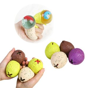 Vent Ball New Anti-Stress Dinosaur Egg Novel And Fun Splash Grape Vent Ball Squeeze Pressure Reliever Toy Fun Little Toy For Children EEA54 on Sale