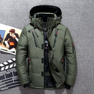 Wholesale Winter Down Coat Men White Duck Down Parkas Jacket Men s Thick Warm Snow Parka Jacket Overcoat Windbreaker Hooded Warm Parkas