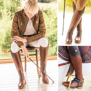 Wholesale Women Equestrian Riding Boots High Rider Over the Knee Boots for Women Lace up Leather Knee High Plus Size