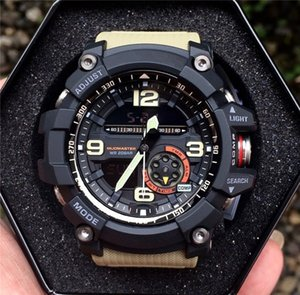 Wholesale Shock Sport Watch Waterproof Military Rubber G Sports Watches 1000 Compass thermometer WristWatches LED High Quality Men Watches on Sale