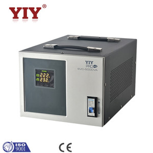PRO-5000VA YIY AC automatic voltage regulator stabilizer servo type split phase colorful display factory direct sale support customize