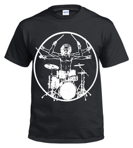 Wholesale Vitruvian Drummer Funny Drumming T Shirt Drums Drum Kit Stick Music Rock Top Tee Cool xxxtentacion marcus and martinus tshirt