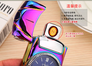 multifunctional 2 in 1 super car model + watch lighter Electric USB Rechargeable cigar Lighter Windproof cigrette Lighter top grade gift