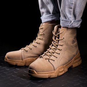 Wholesale Ankle Boots For Men s Outdoor Matte Leather Boots Trend England Style Suede High Slip Skid Best selling