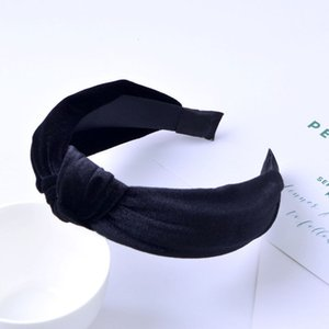 Hot Trendy Women clothes casual Twist Cross Plush Hairband Wide Side Velvet Solid Color Headband one pieces
