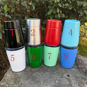 Wholesale Wine Mugs Stemless Wine Glass oz Cups for Kids colors with Straw Lid Stainless Steel Drinkware Insulated Mug Hot Sale