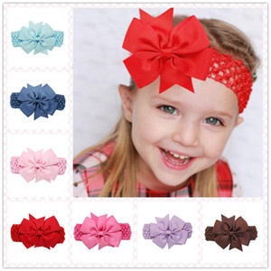 Wholesale Europe Hot dovetail rib headdress solid color ribbon bow hair accessories wholesale hair band infant children