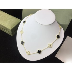 Wholesale shipping boxs for sale - Group buy 2020 New Ten Flowers Clover Red Agate Gold Necklace for Women Fashion Designer Brand Jewelry for Women with Boxs with Stamp