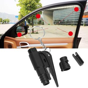 Emergency Mini Safety Hammer Auto Car Window Glass Breaker Keychain Escape Tool Rescue Tool with Key Chain Seat Belt Cutter on Sale