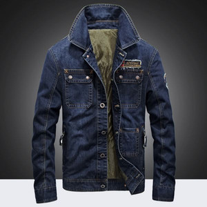 Wholesale High quality 2019 Men Denim Jackets Men Coat Long Section Fashion Trench Coat Casual Fit Overcoat Jacket Outerwear