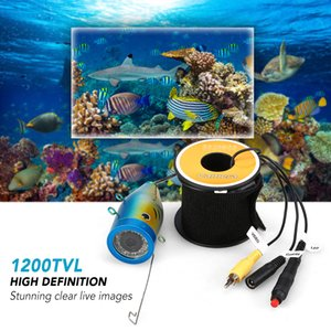 Wholesale 1200TVL Underwater Fishing Camera LEDs Night Vision Waterproof Fish Shape Boat Ice Fishing Camera Accessories