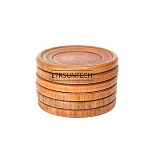Natural Wood Kitchen Pads Round Pallet Wine Glass Cup Pad Hot Cold Drink Coasters Mug Table Mats Cooking Aid