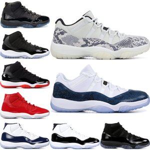 Concord High 45 11 XI 11s Cap and Gown PRM Heiress Gym Red Platinum Tint Space Jams Men Basketball Shoes sports Sneakers 36-47