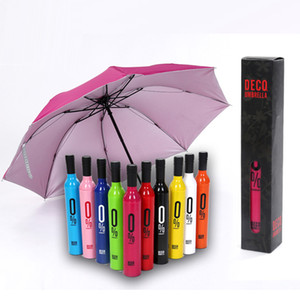 Wholesale Wine Bottle Umbrella Travel Fashion Wine Bottle Folding Sun Rain Umbrella Windproof Sun Shade Umbrella design