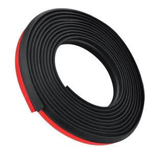 4M Universal Car Z Shape Rubber Seal Weather Strip Hollow Door Window Edge Moulding Trim Decorate Weatherstrip