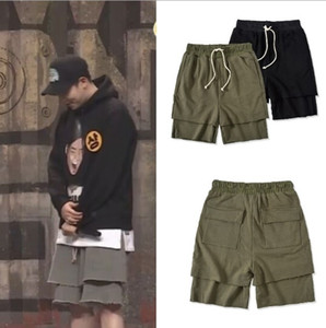зеленые улицы оптовых-Mens Casual Shorts High Street New Fashion Hip Hop Style Casual Fashion Shorts Black and Green Asian Size M XL