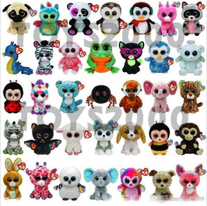 Wholesale design video games resale online - new Design Ty Beanie Boos Plush Stuffed Toys cm Big Eyes Animals Soft Dolls for Kids Birthday Gifts ty toys B001