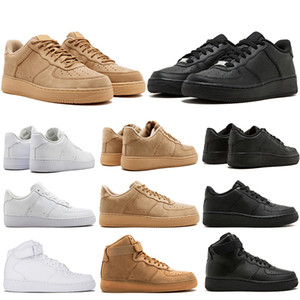 Wholesale 2019 New Brand discount One Dunk Running Shoes For Men Women Sports Skateboarding High Low Cut White Black Wheat Trainers Sneakers