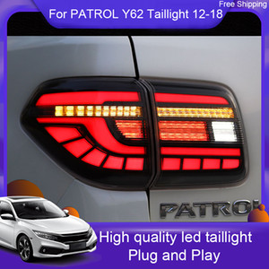 Wholesale nissan patrol resale online - Car LED Tail Light Taillight For Nissan Patrol Y62 Rear Running Light Brake Lamp Reverse Dynamic Turn Signal car lights