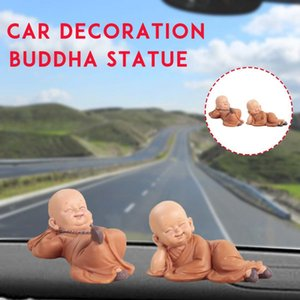 Wholesale Buddha Statues Little Monk Ceramic Club Geomantic Home Decoration Figurines Car Interior Accessories Ornaments