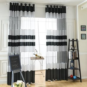 Wholesale New Window Yarn Simple Curtain Strip Cloth Window Yarn Factory Direct Small Fresh Living Room Study Dedicated