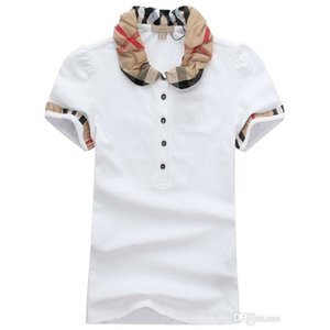 Wholesale Womens Designer T Shirts High Quality Printing Round Designer T shirts Models Short women Polo Shirts