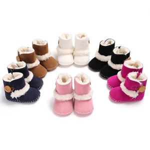Wholesale snow shoes for baby resale online - 2020 New Arrival baby shoes cm cm cm black white pink brown dark blue for kids running shoes online sale