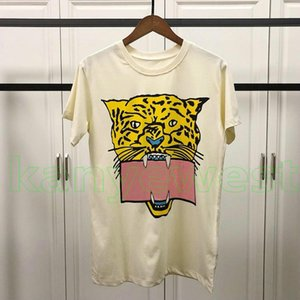 Wholesale 19ss newest summer Luxury Europe mens Leopard print t shirt High Quality Fashion Men Women designer T Shirts Short Sleeve Cotton Casual Tee
