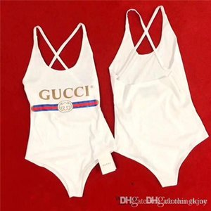 Wholesale 19ss Luxurious Italy Brand Moschinos siamese swimwear Sexy Bikini Swimwear for Women Bathing Suit Fashion Backless Swimwear for Lady Girl