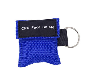 Wholesale CPR Rescue Mask Shield CPR Mask With Keys Chain With One-way Valve For First Aid For First Aid Training Random Colors #4074 150pcs