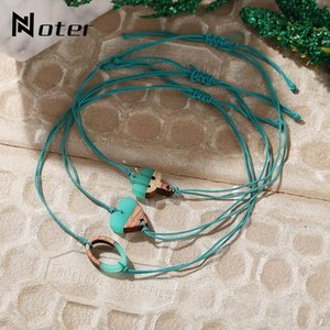 Wholesale Noter Trendy Rope Bracelet For Women Girls Cute Heart Cactus Letter Charm Braslet Adjustable Weave Brazalete Present For Kids