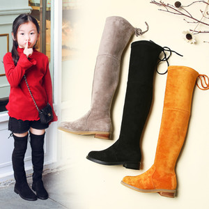 Wholesale Gamlon Children Over Knee Boots Girl Shoes Knee Fashion Children Boots 2019 Autumn And Winter Princess Girls Students Mama ShoesMX190917