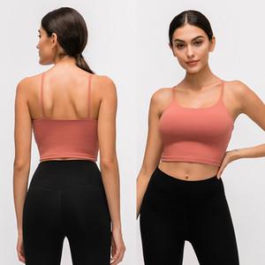 LU-83 Solid Color Women Yoga Bra Shirts Sports Vest Fitness Tops Sexy Underwear Lady Tops Yoga Sports Bra