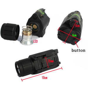 Wholesale tactical light laser resale online - Hunting Camping Red Gun lighting equipm Flashlight Tactical Insight Red Laser CREE Q5 LED flashlight For Pistol