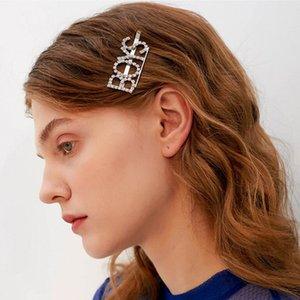 Crystal Rhinestone Letter Hair Clips New 18 Words Girl Hairpin Diamond Words Barrettes Fashion Bangs Clip Woman Hair Accession