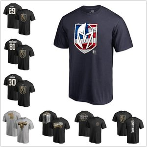 Wholesale Men Vegas Golden Knights Branded Banner Wave T Shirt Mark Stone Hockey fans t shirts navy Grey black