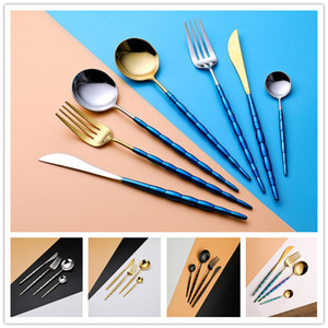 Wholesale Portugal Flatware Set Spoon Fork Knife Tea Spoon Cutlery Sets Dinnerware Kit Stainless Steel Dinnerware Set For Wedding Party Tableware