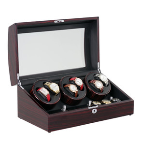 New Version 6+7 Watches Automatic Watch Winder Box Reel Winder MABUCHI Motor With 5 Modes Control Wooden Bobbin Box
