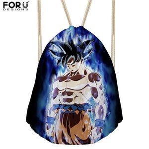 Wholesale uggage Bags Backpacks FORUDESIGNS HOT Anime Dragon Ball Z Super Drawstring Backpack for Children Boys Cool Saiyan Sun Goku Vegeta Printin