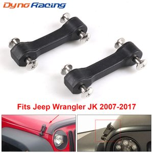 Wholesale jeep jk resale online - For Jeep Wrangler JK Black Hood Latch Upgrade Kit Stops Shake Rattle Engine Bonnets Hood Lock