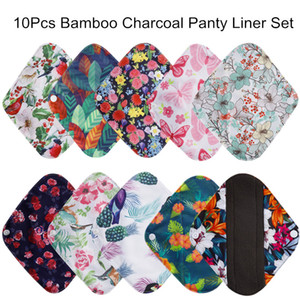 Wholesale 10Pcs Reusable Pads bamboo charcoal pads Sanitary Pads Washable Panty Liner Mama maternity Menstrual Cotton